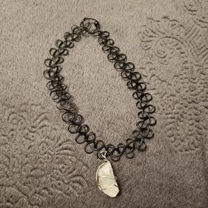 Handmade Black Choker With Crystal